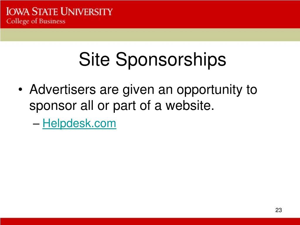 Site Sponsorships