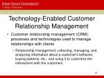 technology enabled customer relationship management