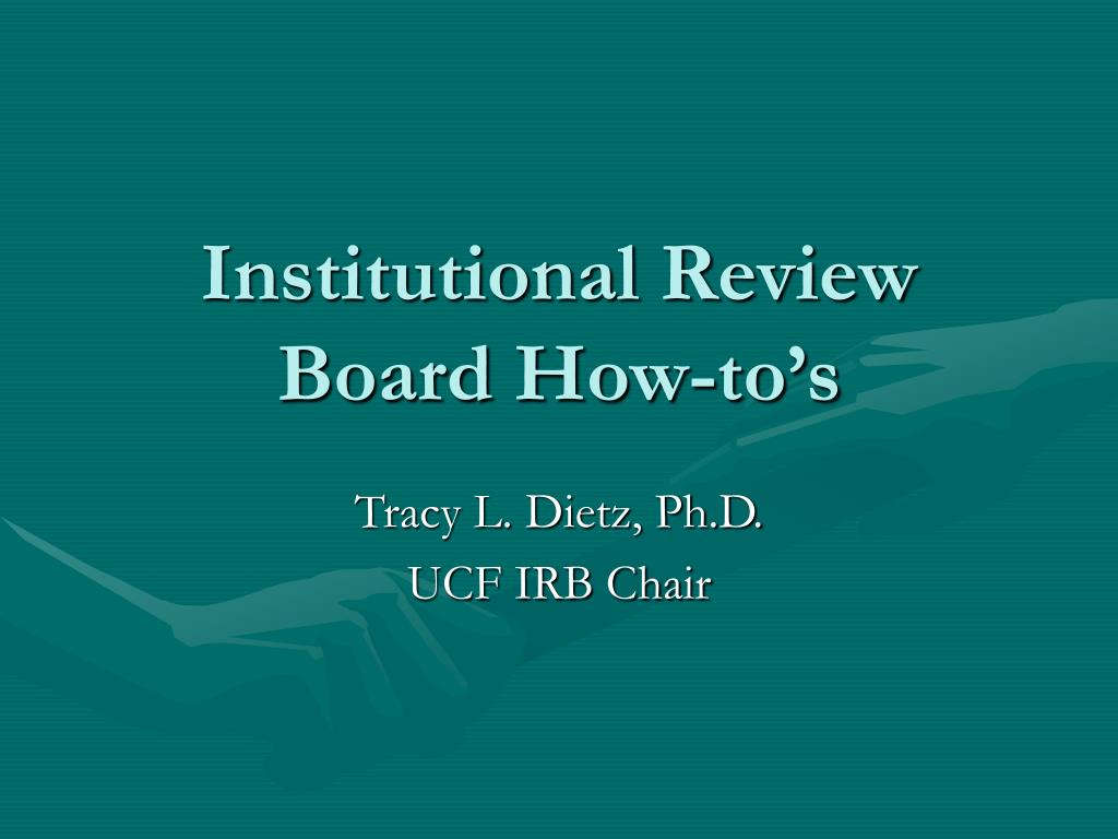 institutional review board how to s l.