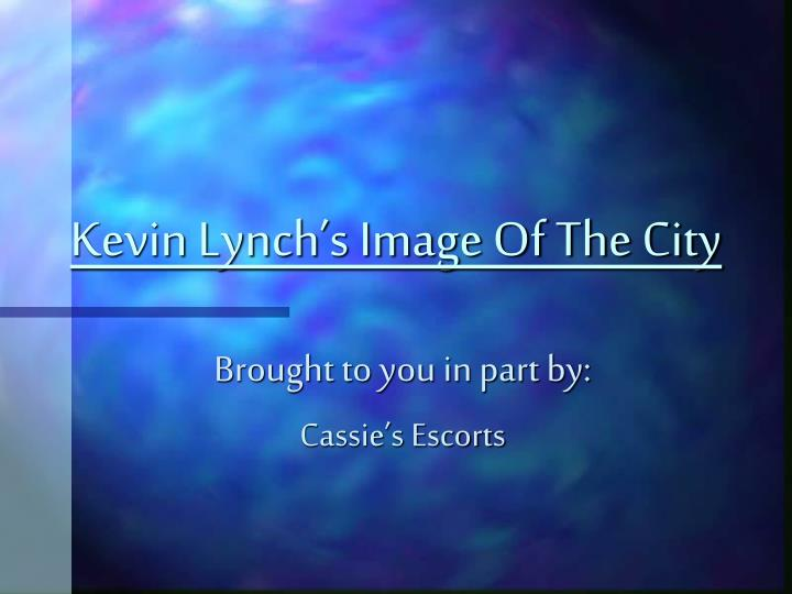 kevin lynch s image of the city n.
