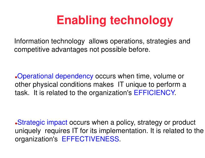Ppt Strategic Impact Of Information Technology Powerpoint
