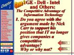 ge dell intel and others