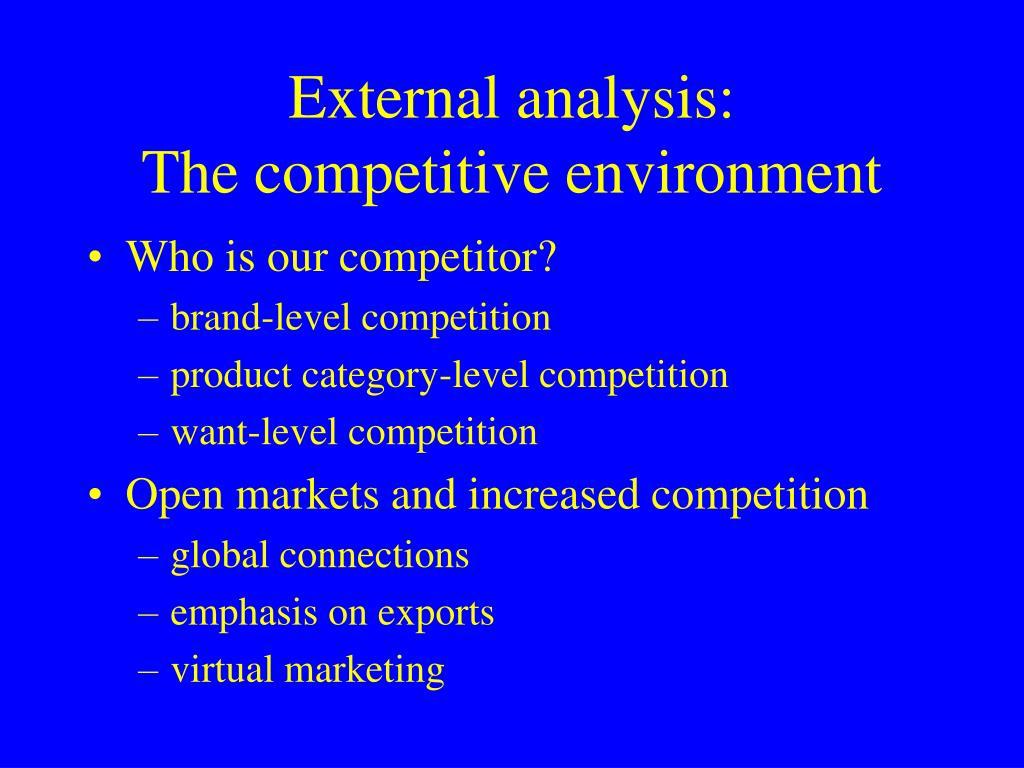 External analysis: