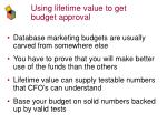 using lifetime value to get budget approval35