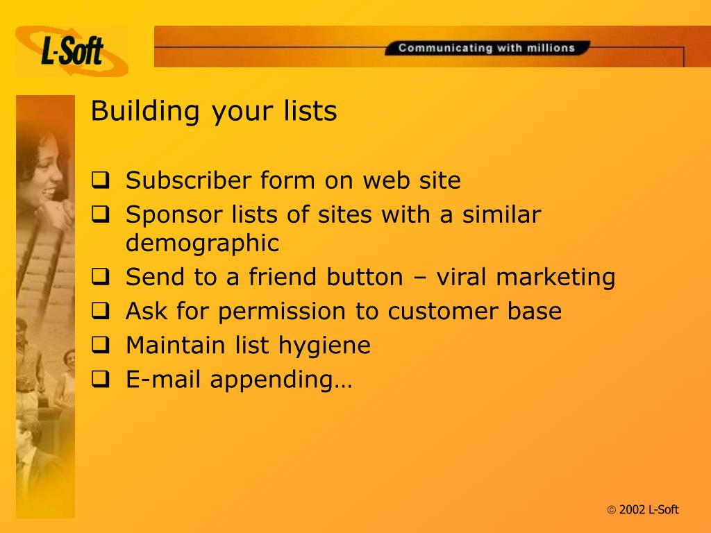 Building your lists