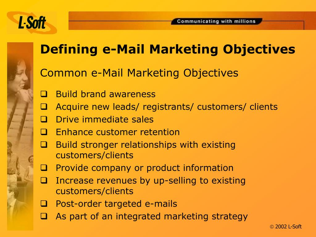 Defining e-Mail Marketing Objectives