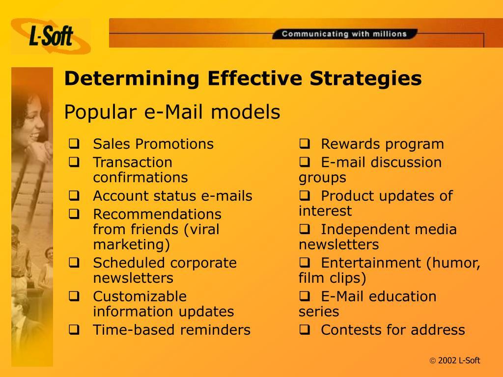 Determining Effective Strategies