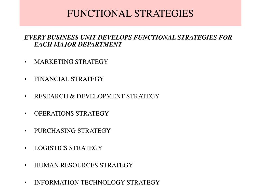 functional strategies l.