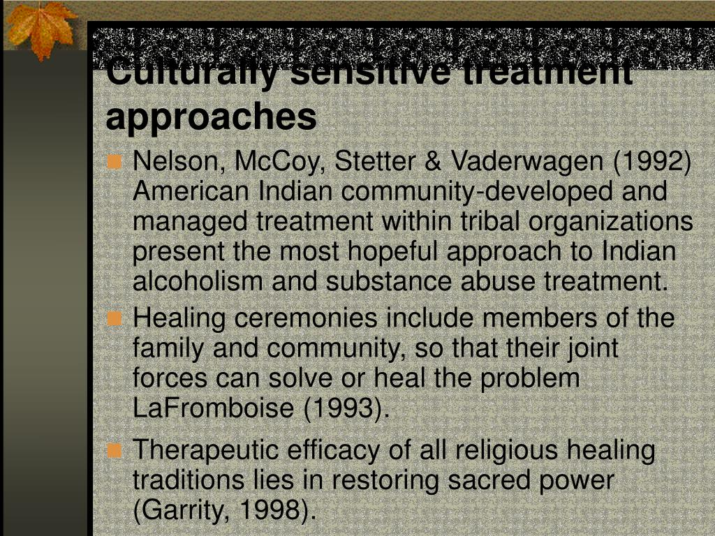 Culturally sensitive treatment approaches