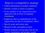 steps to a competitive strategy