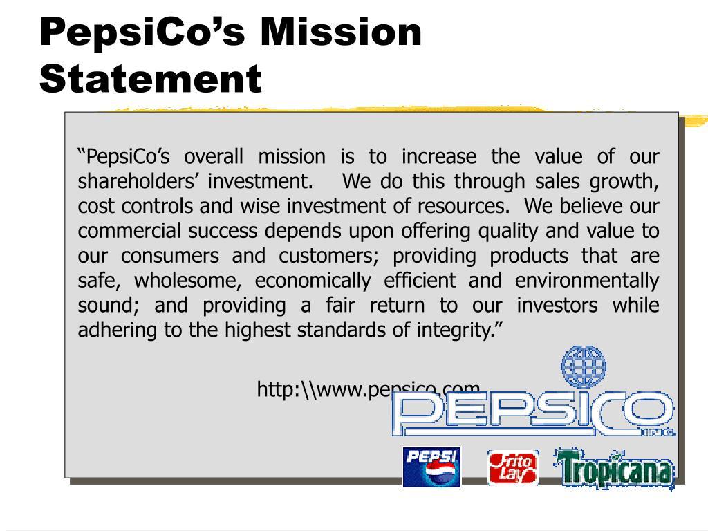 PepsiCo's Mission Statement