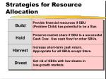 strategies for resource allocation