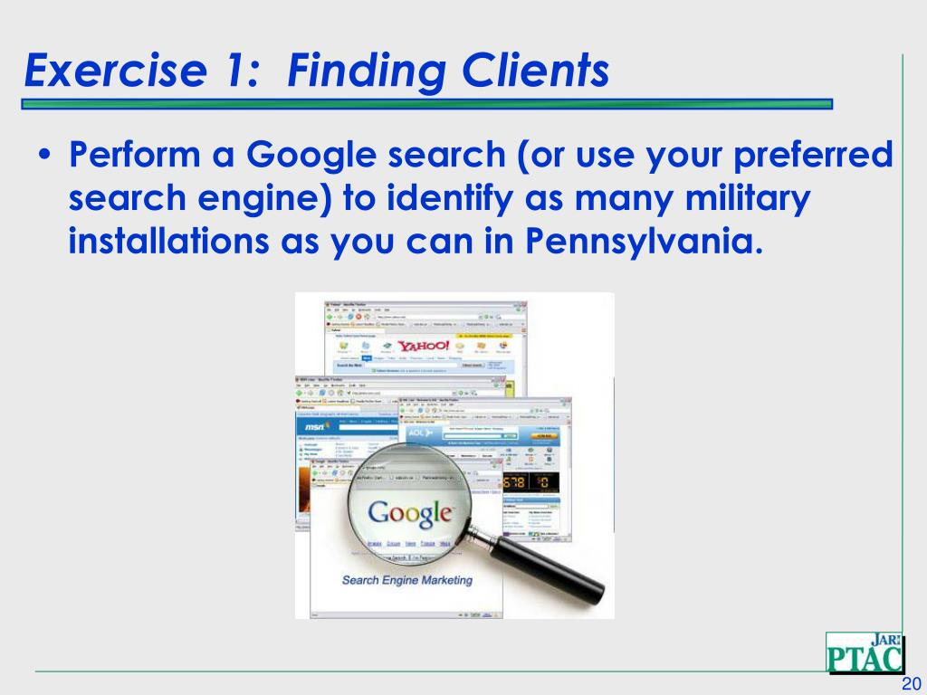 Exercise 1:  Finding Clients