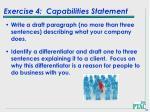 exercise 4 capabilities statement
