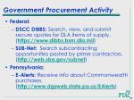 government procurement activity63