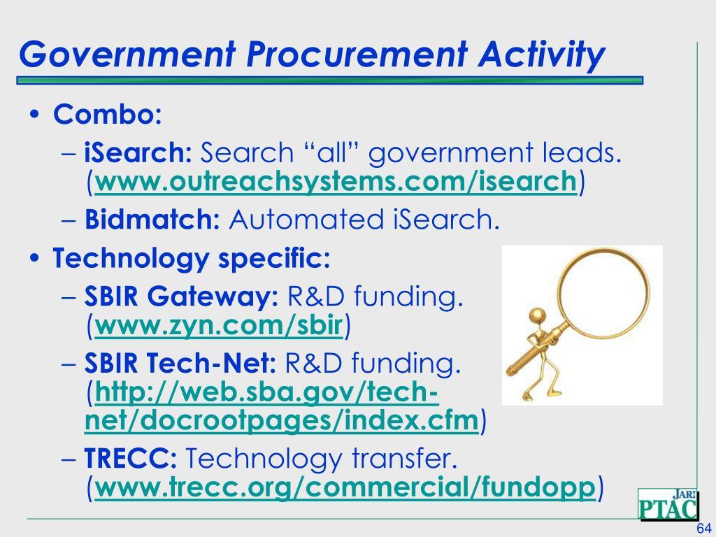 Government Procurement Activity