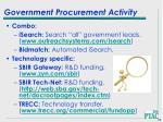 government procurement activity64