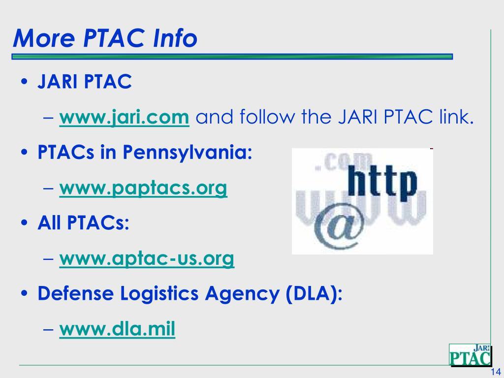 More PTAC Info