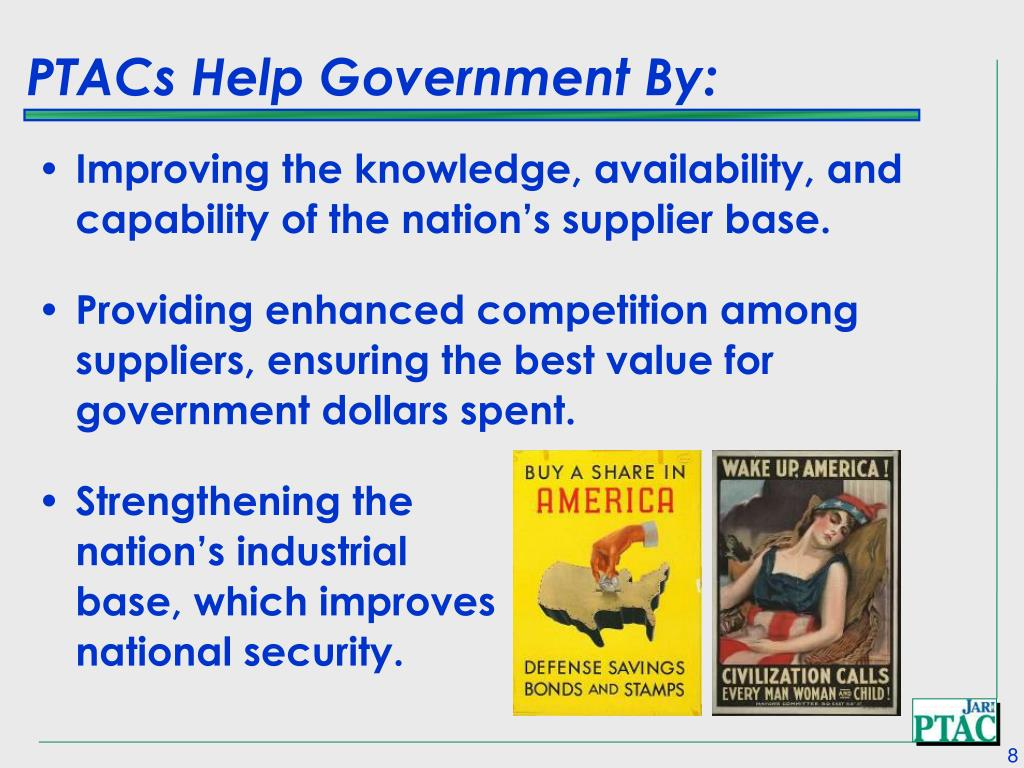 PTACs Help Government By: