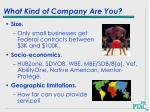 what kind of company are you35