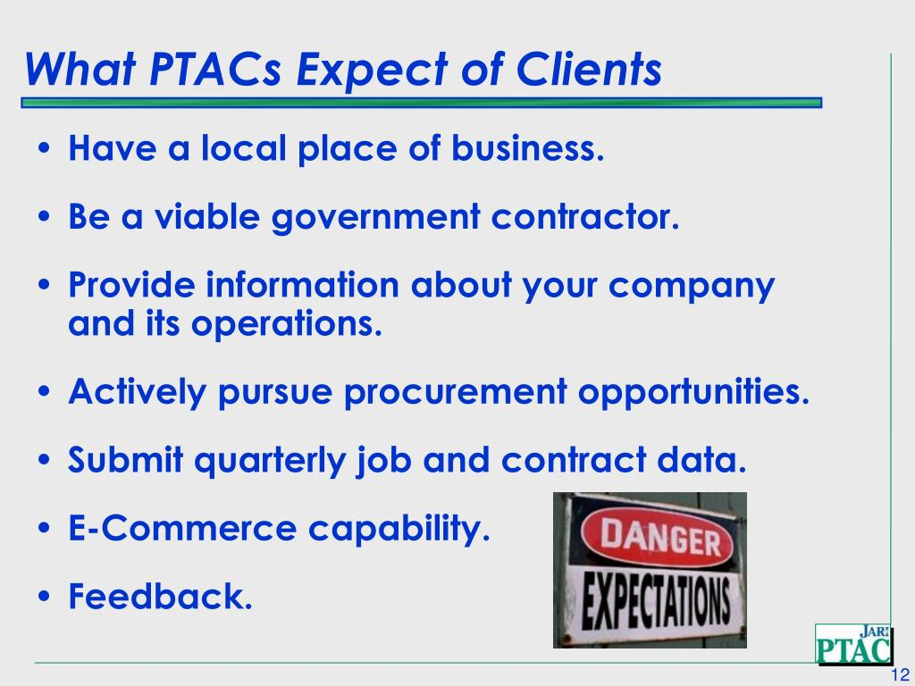 What PTACs Expect of Clients