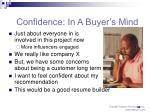 confidence in a buyer s mind
