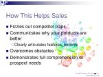 how this helps sales28