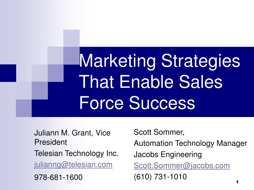 marketing strategies that enable sales force success l.