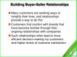 building buyer seller relationships