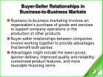 buyer seller relationships in business to business markets