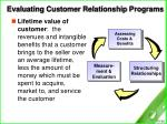 evaluating customer relationship programs