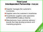 third level interdependent partnership p 322 323