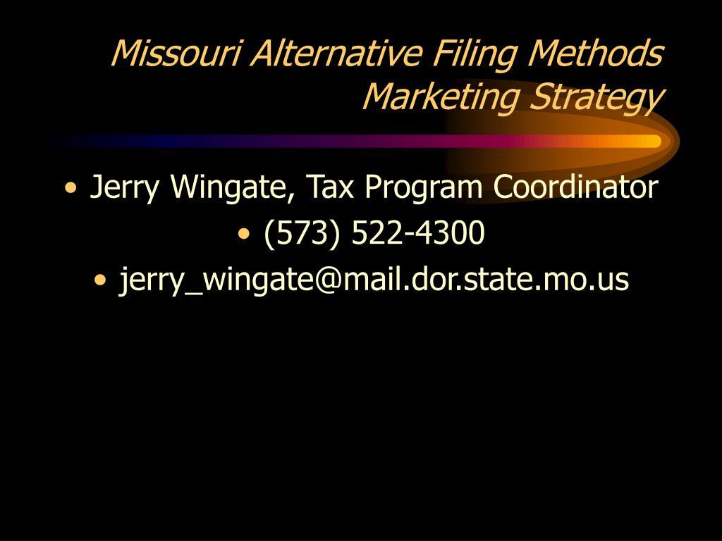 missouri alternative filing methods marketing strategy l.