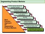segmenting product markets