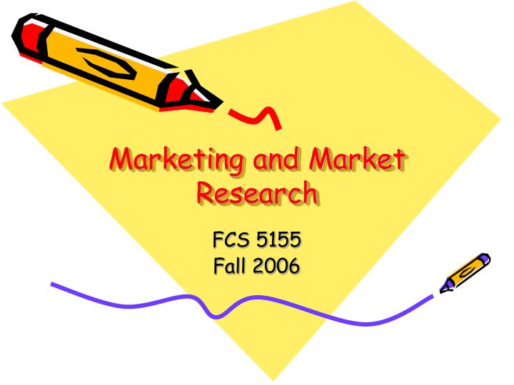 Marketing and market research