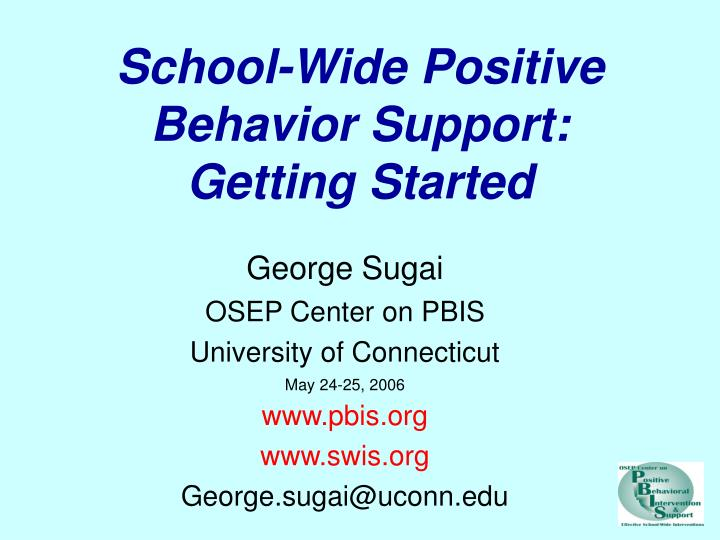 school wide positive behavior support getting started n.