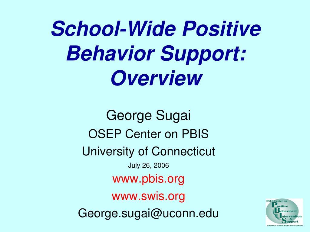 school wide positive behavior support overview l.