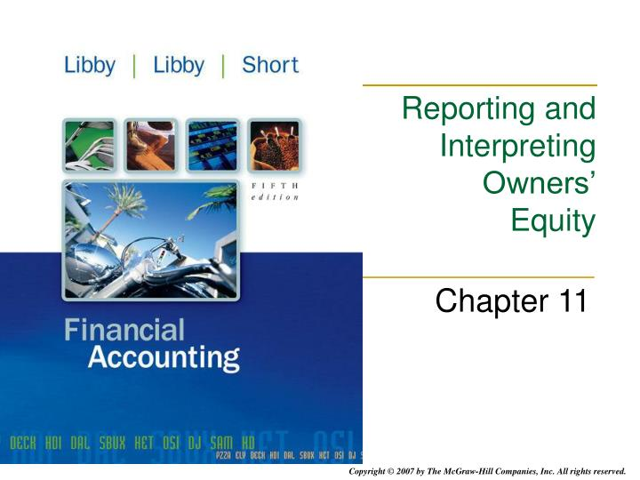 reporting and interpreting owners equity n.