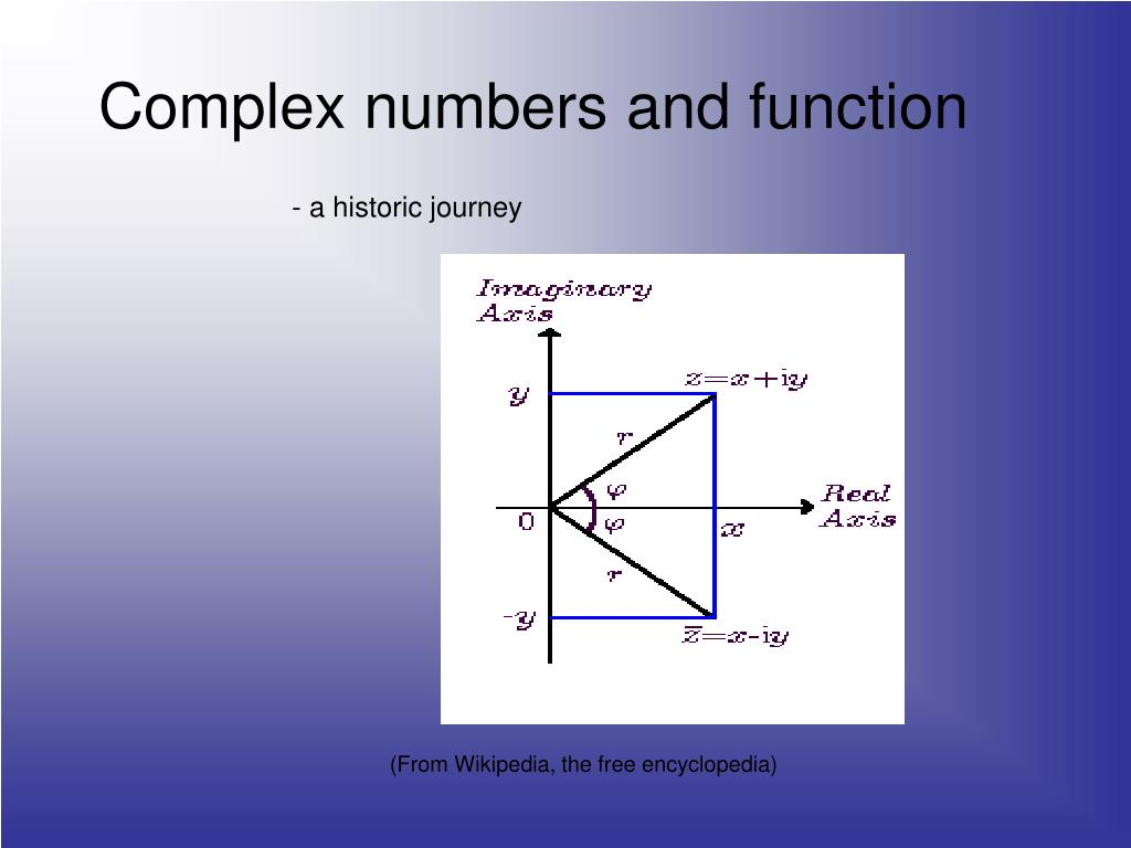 complex numbers and function l.