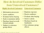 how do involved customers differ from uninvolved customers