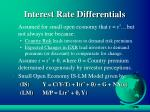 interest rate differentials