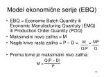 model ekonomi ne serije ebq