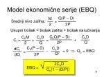 model ekonomi ne serije ebq34