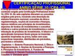 certifica o profissional anbid s rie 10 cpa 10