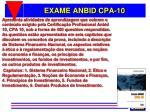 exame anbid cpa 10
