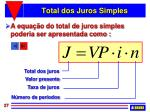 total dos juros simples