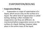 evaporation boiling