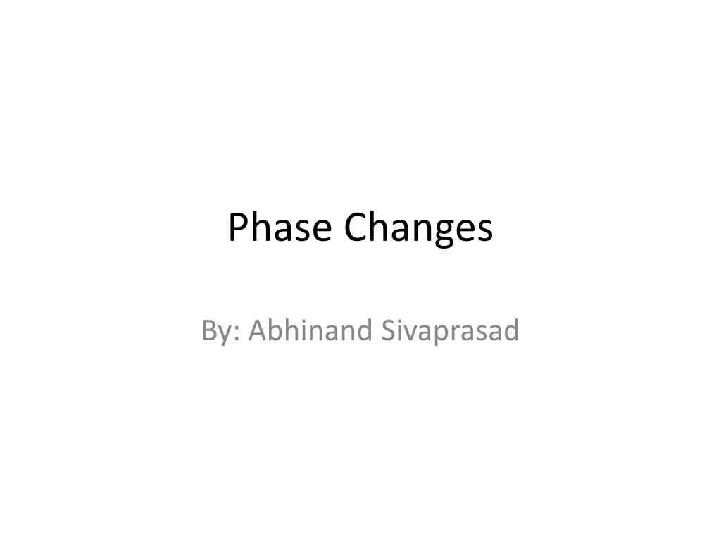 phase changes l.