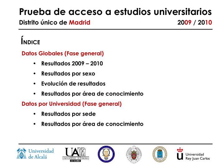 Prueba de acceso a estudios universitarios distrito nico de madrid 20 09 20 101