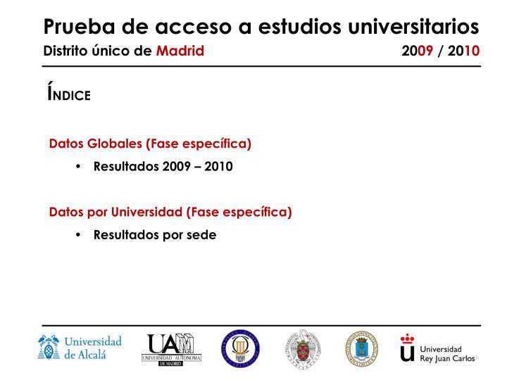 Prueba de acceso a estudios universitarios distrito nico de madrid 20 09 20 102